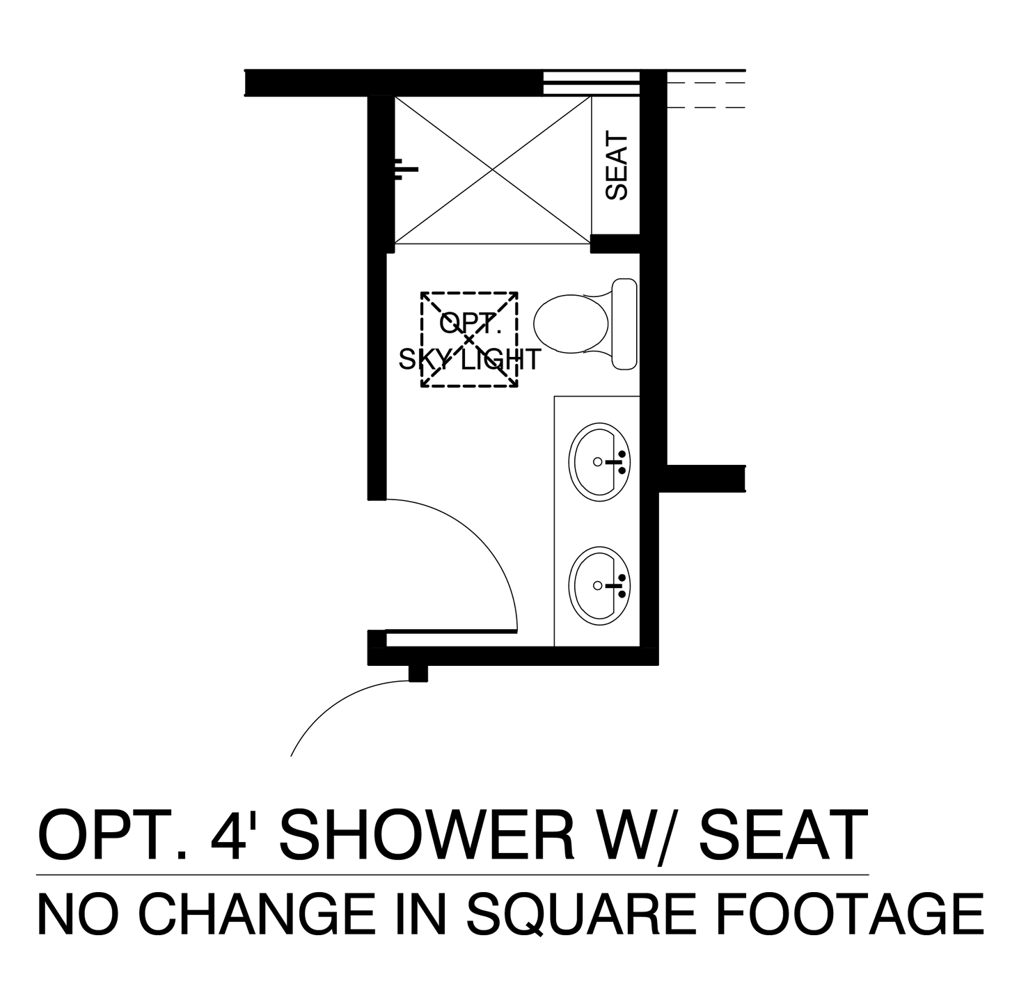 Optional Owners Suite Shower