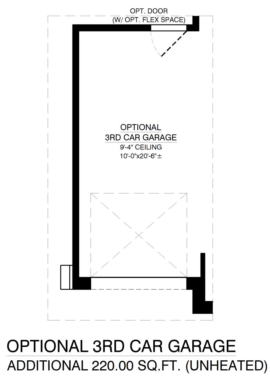 Optional 3rd Garage