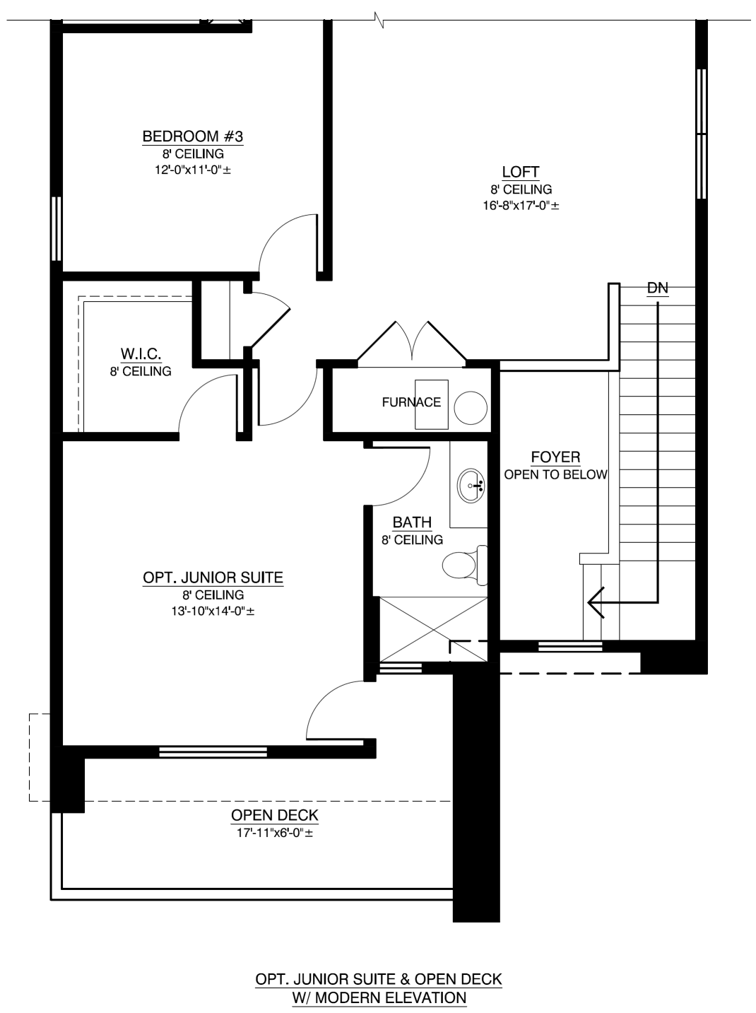 Optional Junior Suite And Open Deck With Modern Elevation