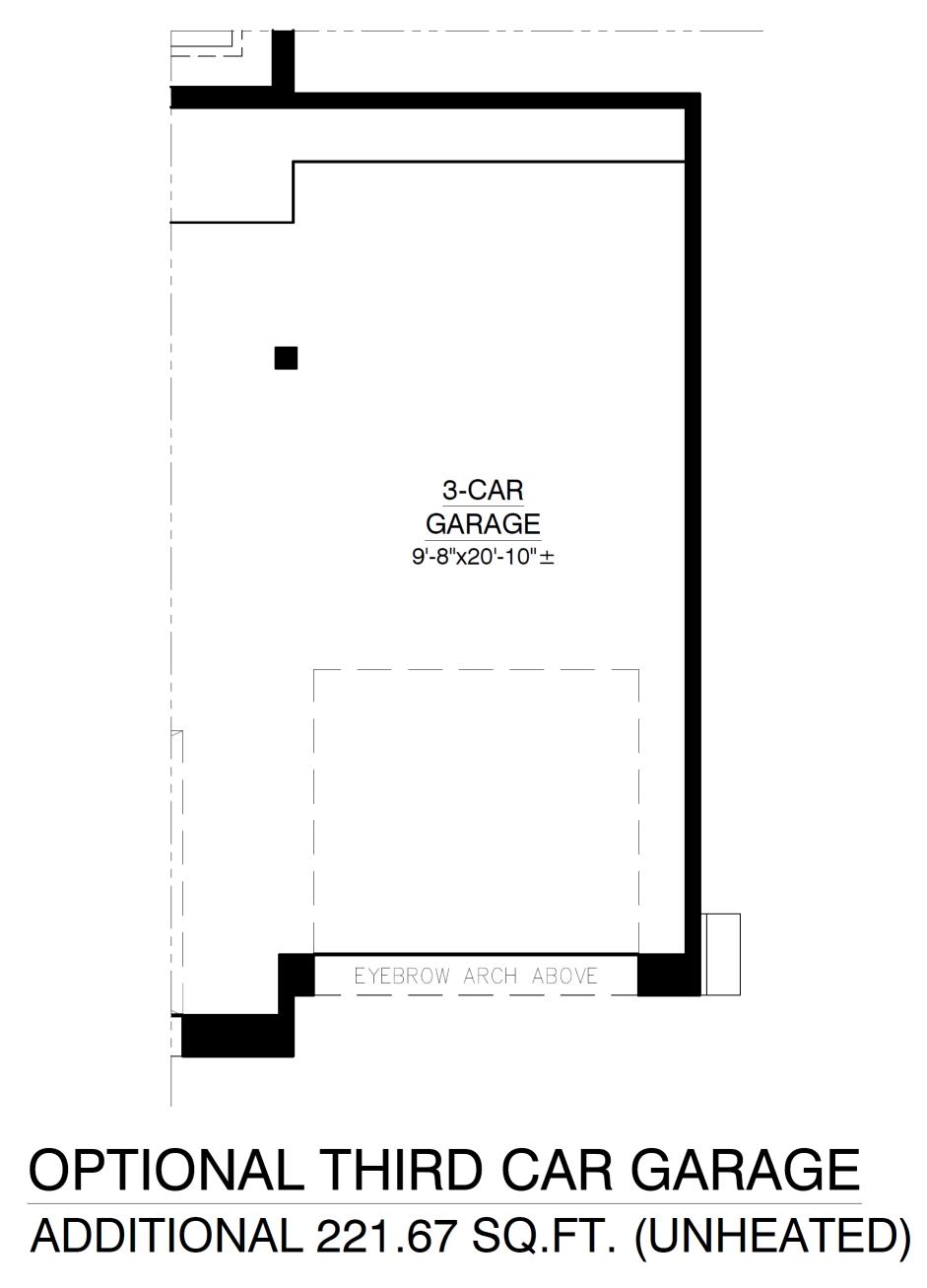 Optional 3rd Car Garage