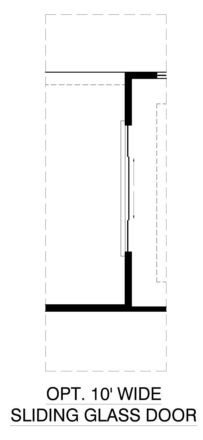 Optional 10ft Sliding Glass Door