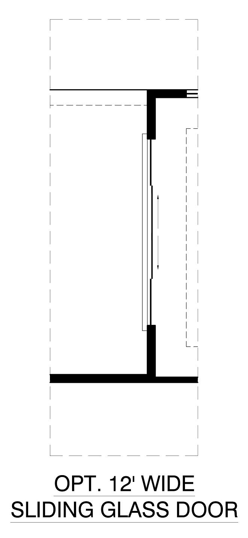 Optional 12ft Sliding Glass Door