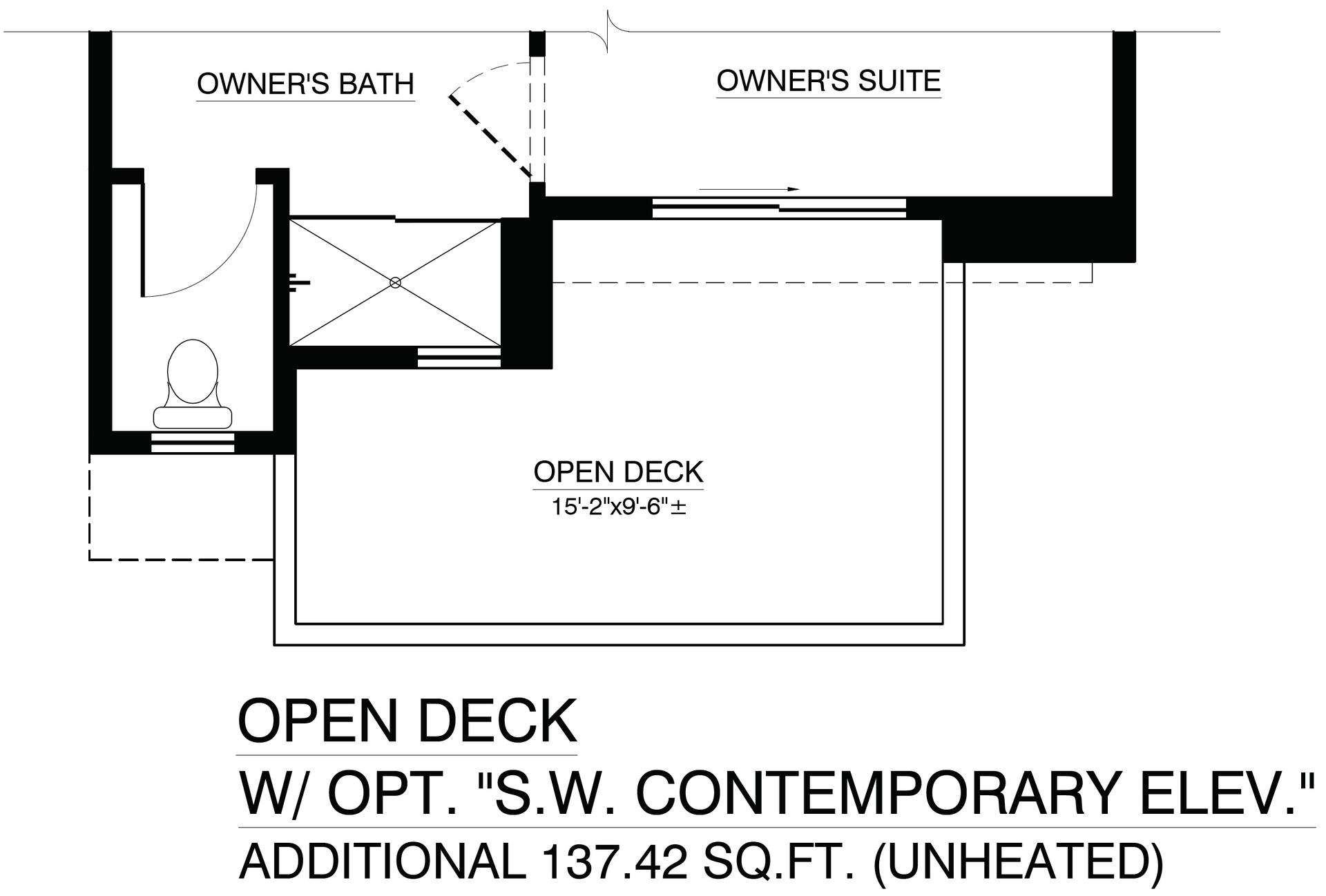 Open Deck with Contemporary Elevation