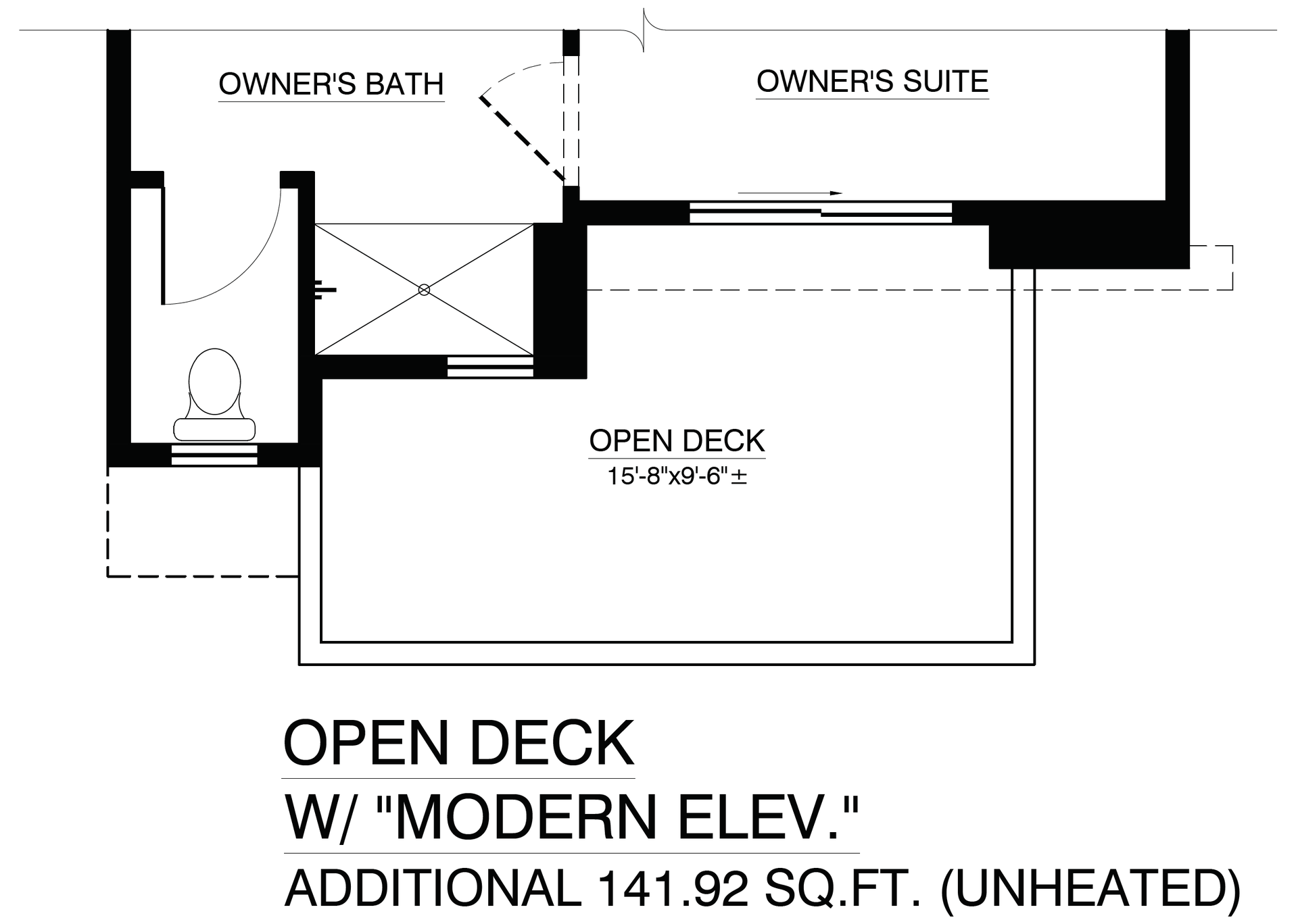 Open Deck with Modern Elevation