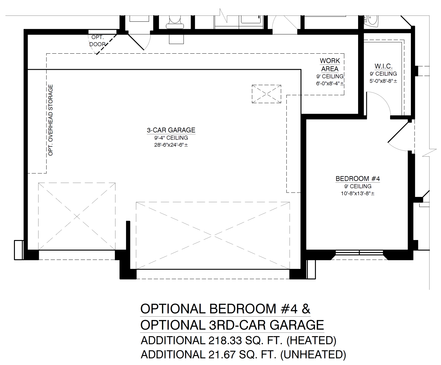 Optional 4th Bedroom and 3rd Garage