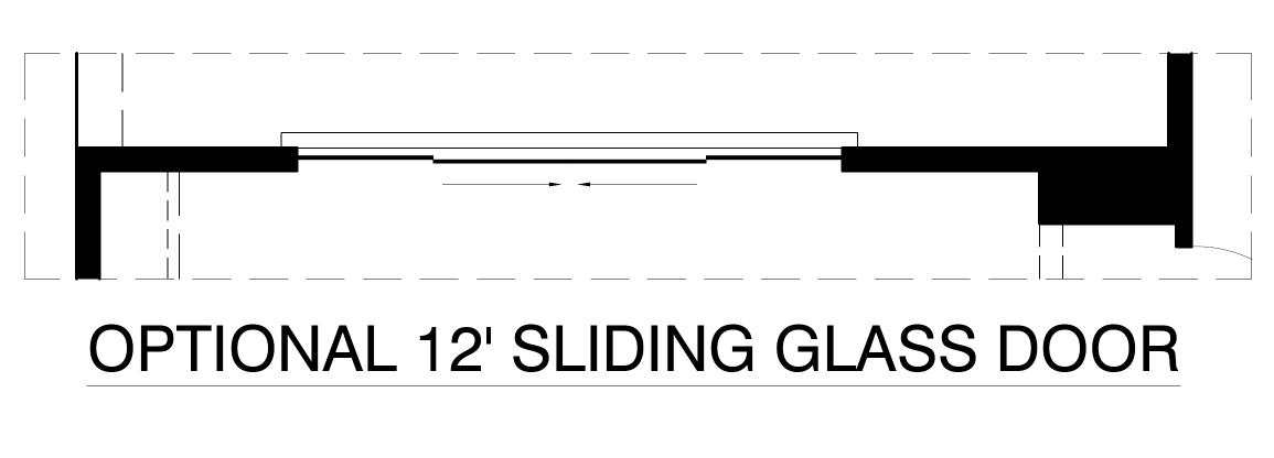 Optional 12ft. Sliding Glass Door