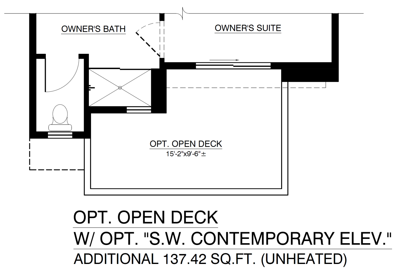 Optional Open Deck With Contemporary Elevation