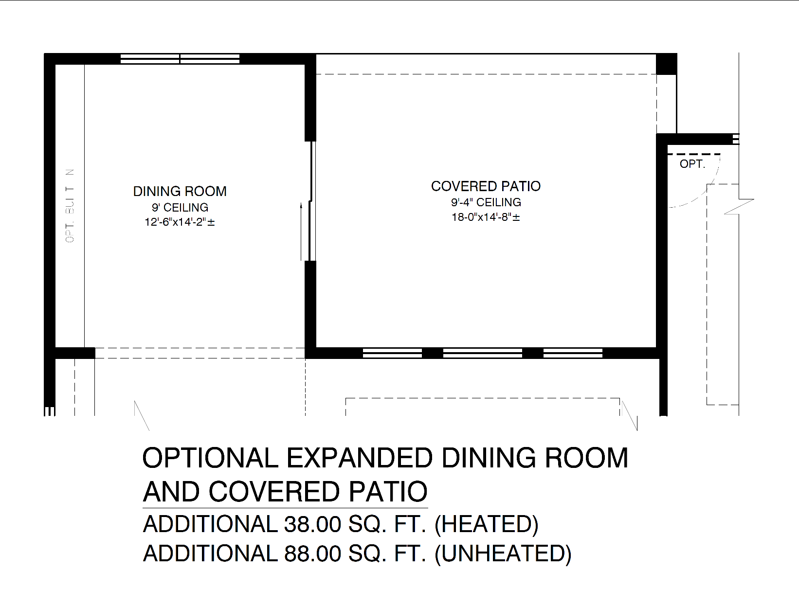 Optional Expanded Dining Room and Covered Patio
