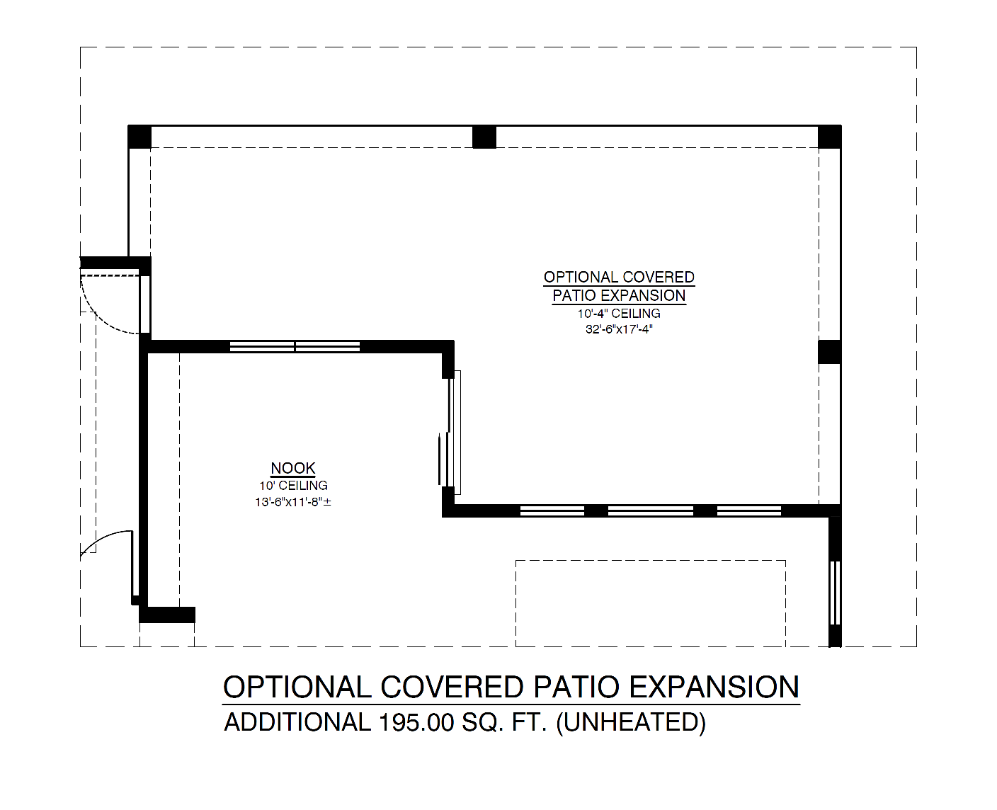 Optional Covered Patio Expansion