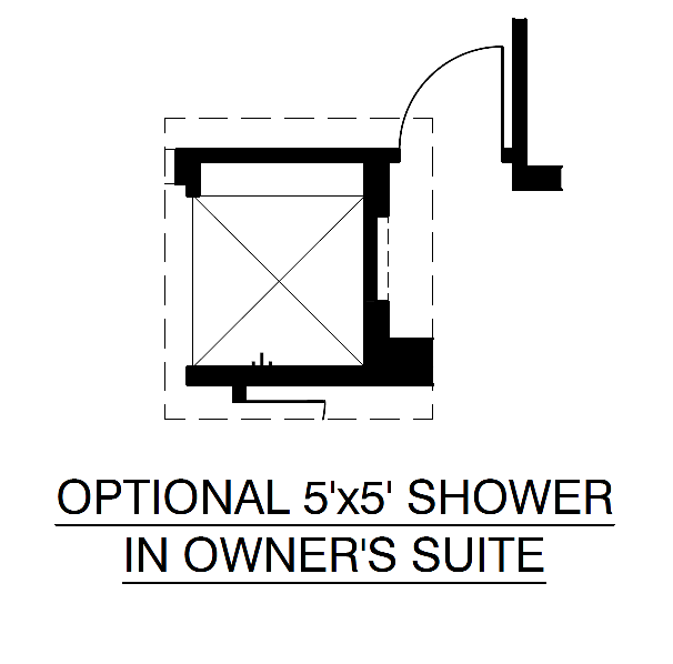 Optional Shower in Owner's Suite