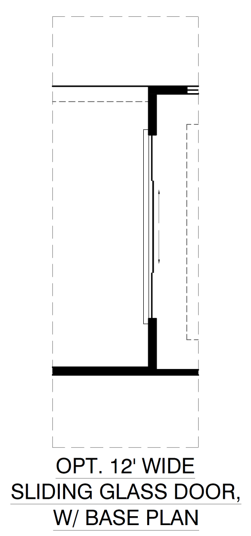 Optional 12ft Wide Sliding Glass Door With Base Plan