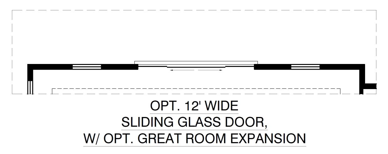 Optional 12ft Wide Sliding Glass Door With Great Room