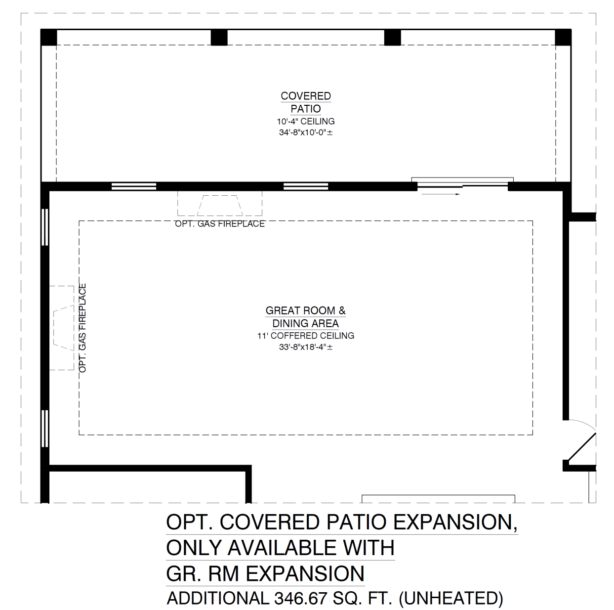 Optional Covered Patio Expansion With Great Room Expansion