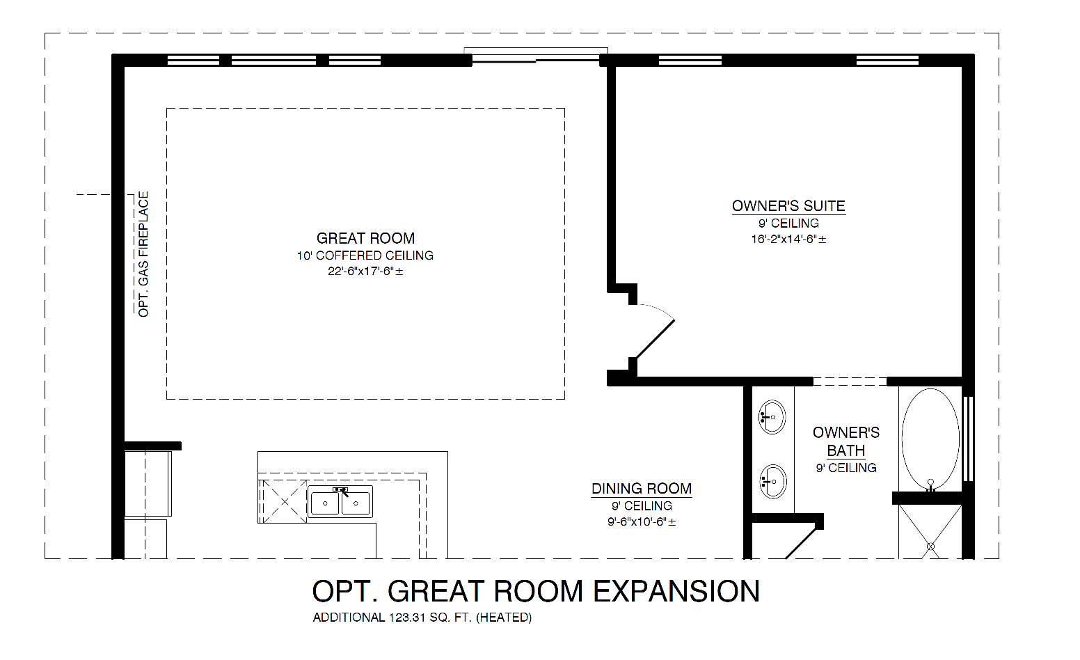 Optional Great Room Expansion