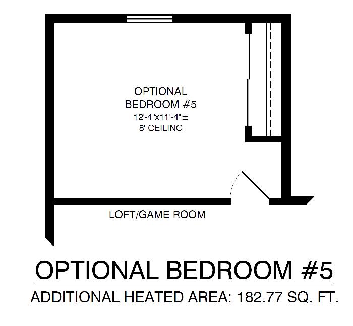 Optional 5th Bedroom On Second Floor