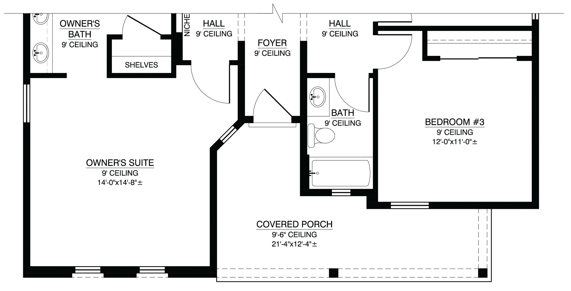 Pilsner Floor Plan With Optional Northern New Mexican Elevation