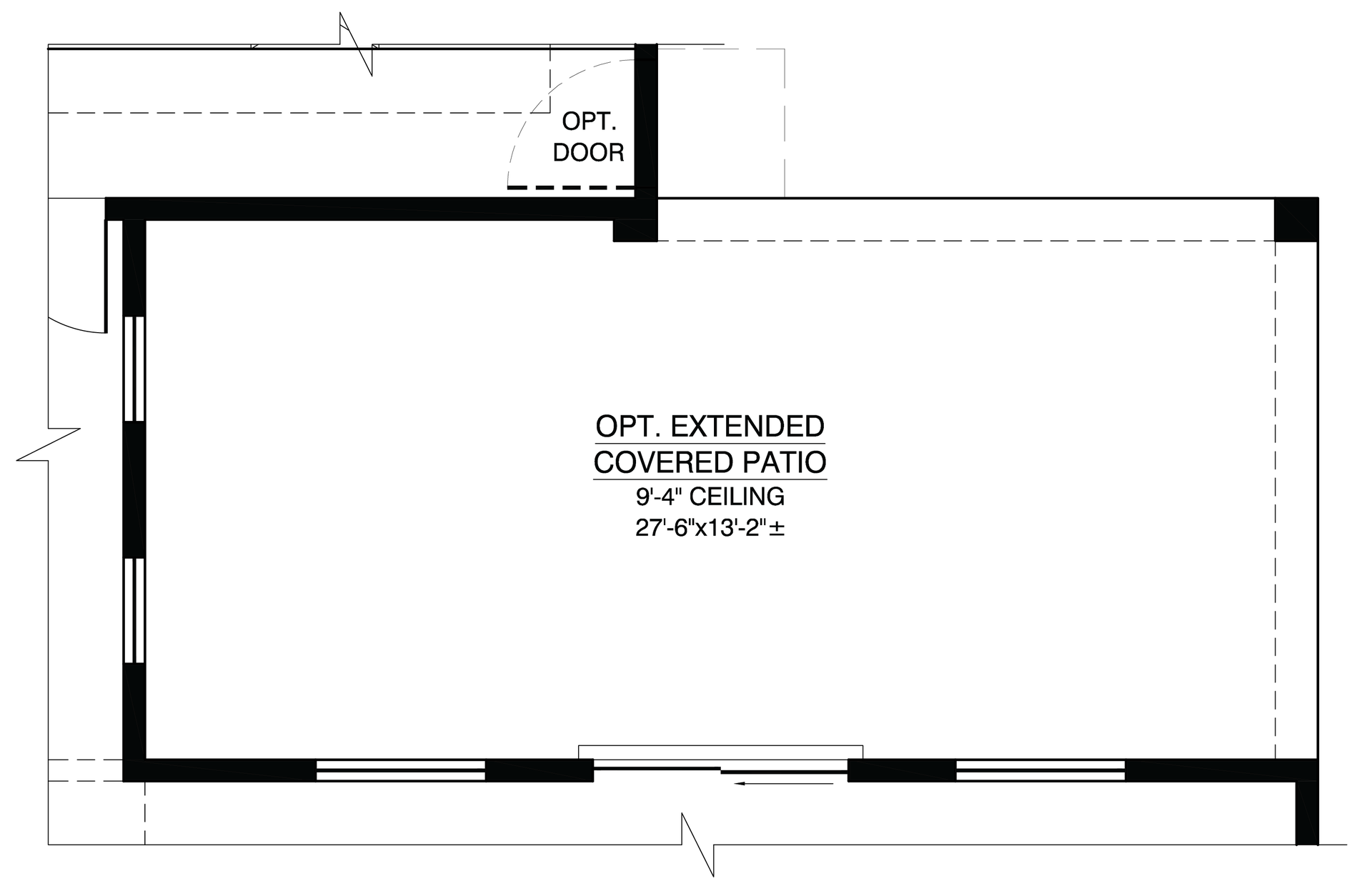 Optional Extended Patio