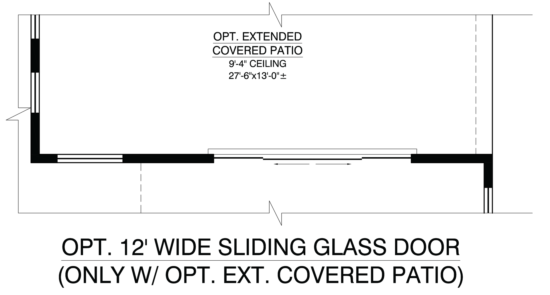 Optional Sliding Glass Door