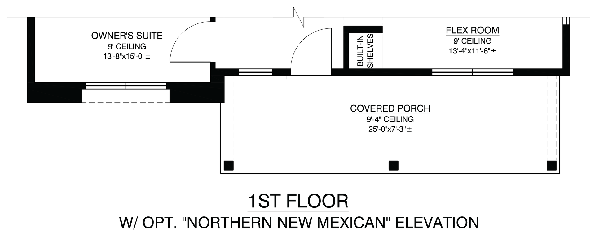 First Floor With Optional Northern New Mexican Elevation