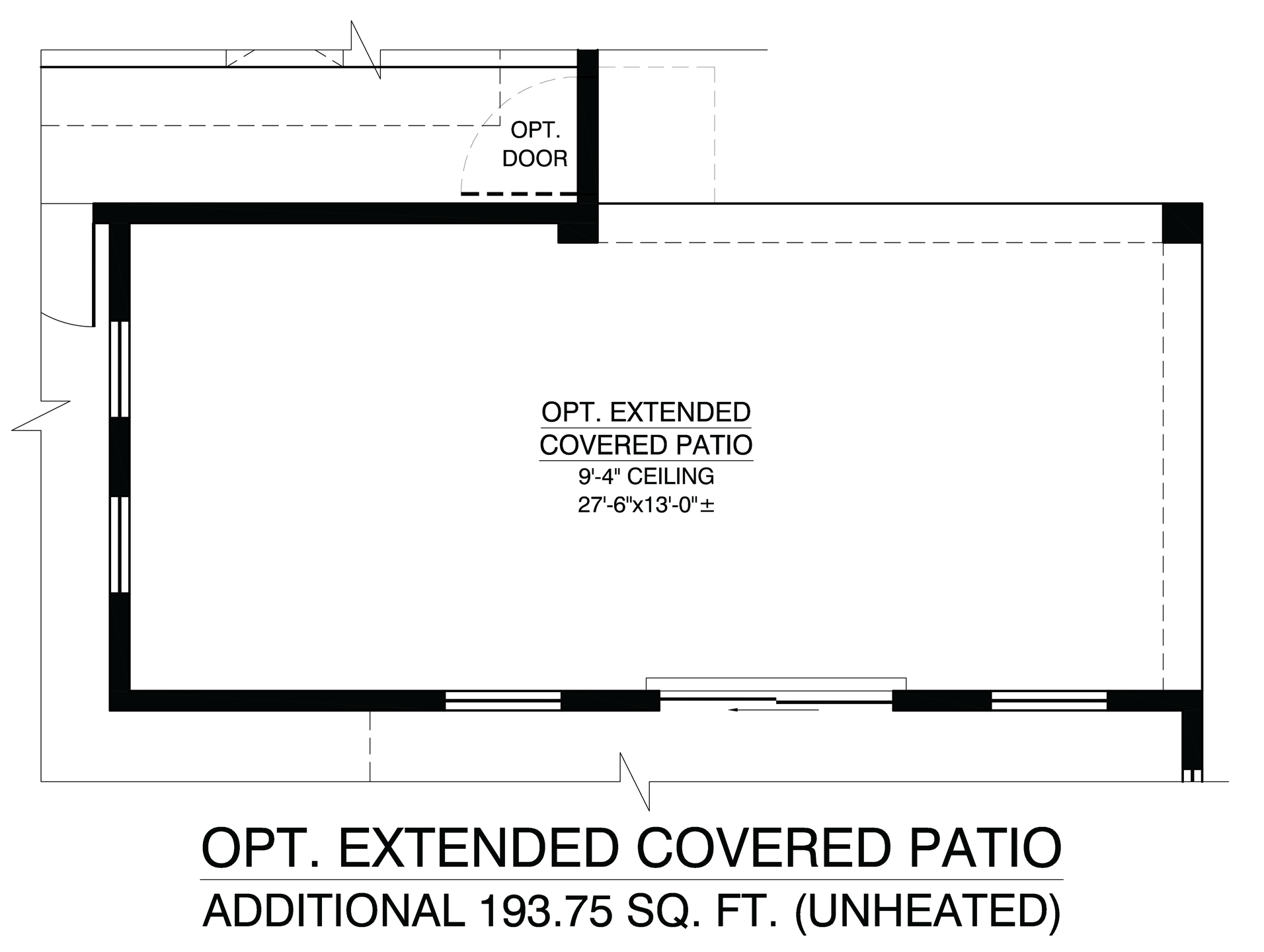 Optional Extended Covered Patio