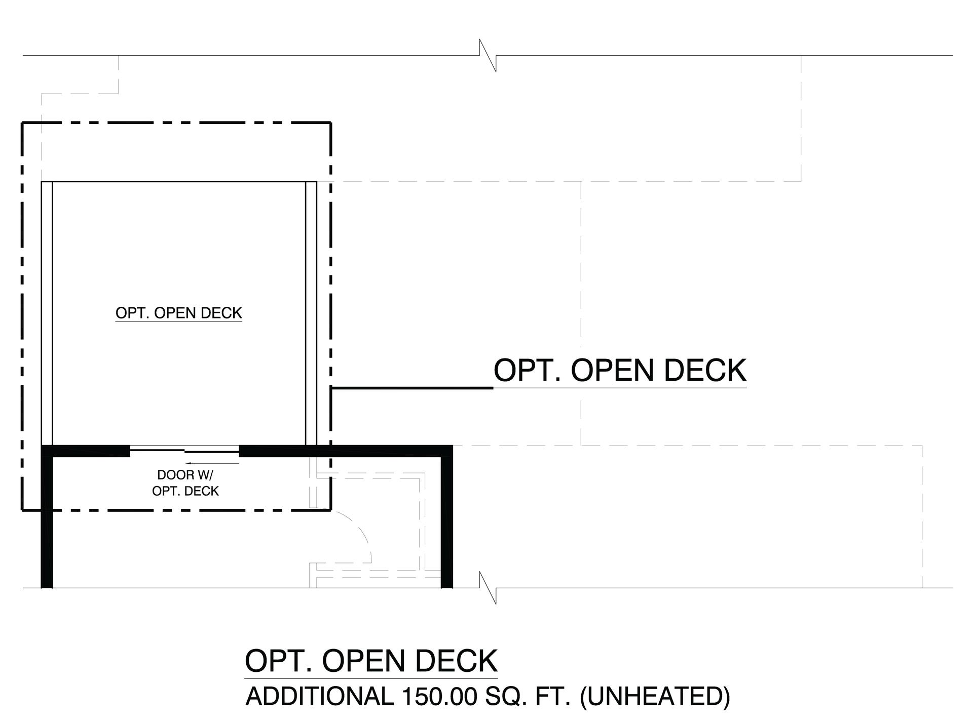 Optional Open Deck