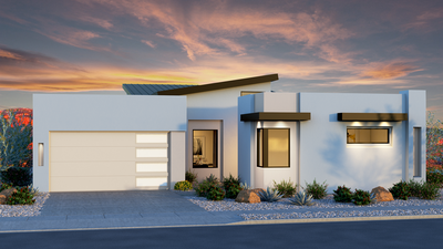 The Marion - Modern Elevation with Casita