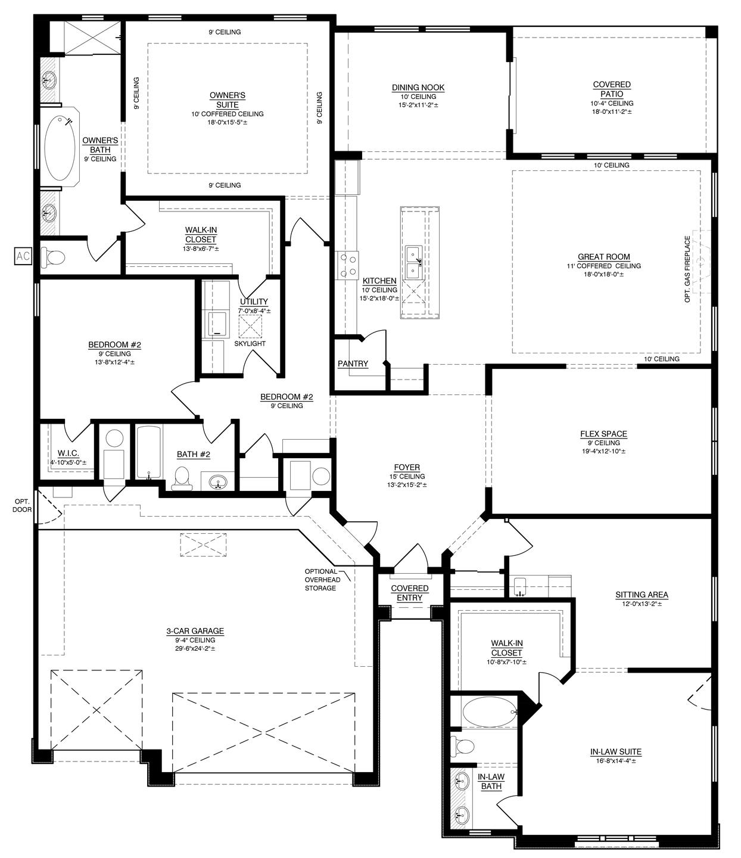 The Tiffany Floor Plan with Casita - 3100 (Durango)