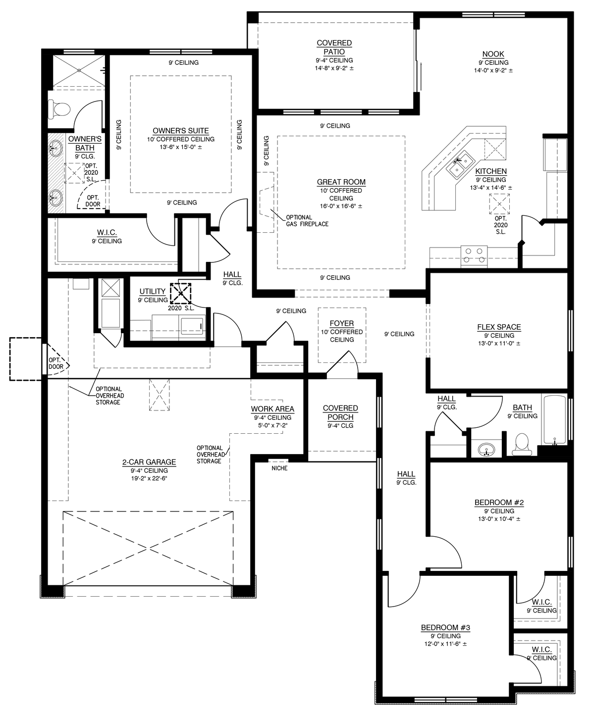 The Anne 1969 Floor Plan (Durango at the Trails)